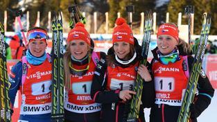 České biatlonistky po závodě Světového poháru v Anterselvě