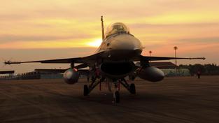 Ilustrační snímek letounu F-16 Fighting Falcon