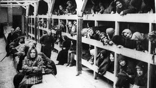 Vyhlazovací tábor Osvětim, továrna na smrt. Archivní snímek
