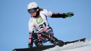Ester Ledecká při slalomu na MS v rakouském Kreischbergu