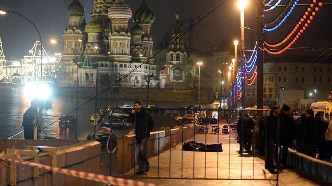 Policie na místě vraždy Borise Němcova