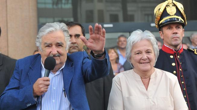 Uruguayský první pár, prezident Mujica s manželkou
