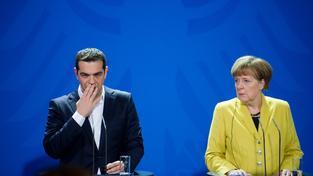 Řecký premiér Alexis Tsipras a německá kancléřka Angela Merkelová