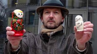 Umělecký kurátor a organizátor mírových pochodů Anton Litvin