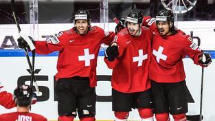 Švýcaři se radují po vstřelení jediné a rozhodující branky