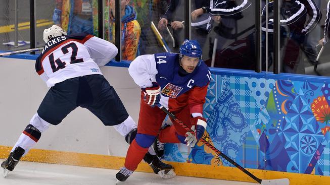Tomáš Plekanec byl kapitánem české reprezentace na olympiádě v Soči