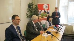 Vedení Univerzity J. A. Komenského při nedávné tiskové konferenci