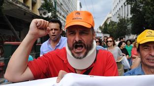 Stovky řeckých zdravotníků vyšly minulý týden do ulic, aby protestovali proti podfinancování zdravotnictví