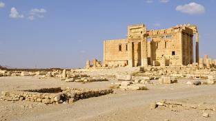 Belův chrám v Palmýře už existuje jen na fotograficích