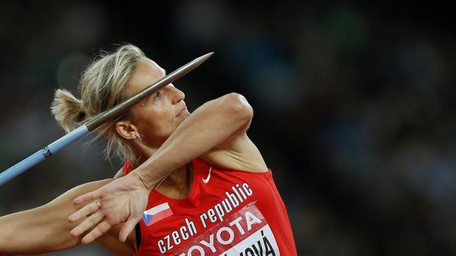 Bára Špotáková na mistrovství v Pekingu