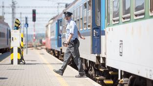 Cizinecká policie kontroluje vlaky. Ilustrační foto