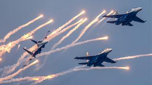 Ruské stíhačky Su-27. Ilustrační snímek