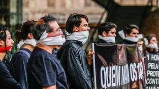 Protest proti násilí a na podporu rodin obětí masakru v Sao Paolu