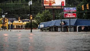 Povodně v jihokarolinské metropoli Columbia