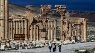 Vítězný oblouk v Palmýře, než ho zničili islamisti