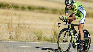 Basso na Vueltě v roce 2013, kdy jezdil za Cannondale