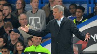 José Mourinho během víkendového zápasu se Southamptonem