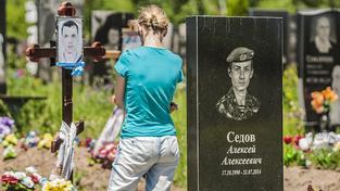 Hřbitov v ukrajinském Dnipropetrovsku
