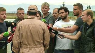 Navigátor ruského bombardéru sestřeleného Turky mluví s novináři