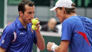 Štěpánek s Berdychem dovedli v letech 2012 a 2013 český tým k zisku Davis cupu