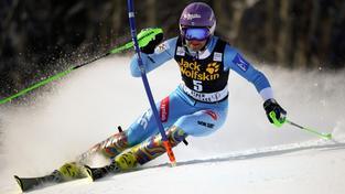 Šárka Strachová na trati slalomu v Aspenu