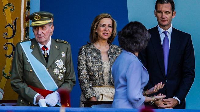 Princezna Cristina s královskou rodinou
