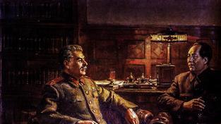 Stalin a Mao na obraze Velké přátelství od sovětského malíře arménského původu Dmitrije Nalbandjana