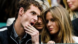 Britský tenista Andy Murray se svou manželkou Kim Sears
