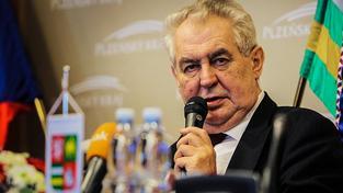 Zeman potvrdil výkupné za dvojici Češek během své návštěvy Plzeňska