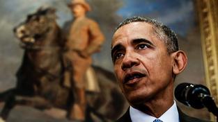 Barack Obama a jeho chrabrý předchůdce Theodore Roosevelt