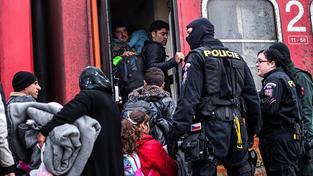 Česká policie odmítá, že se z Česka stala nová tranzitní země pro uprchlíky (Ilustrační snímek)