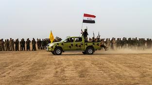 Irácké ozbrojené síly poblíž Fallúdži