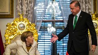 Merkelová na návštěvě u sultána Erdogana