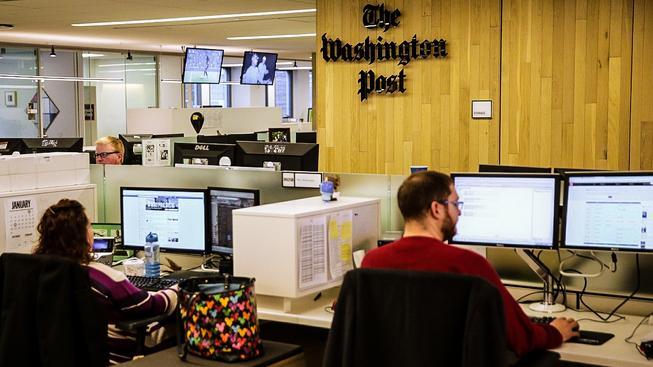Redakce deníku The Washington Post, který patří Jeffu Bezosovi