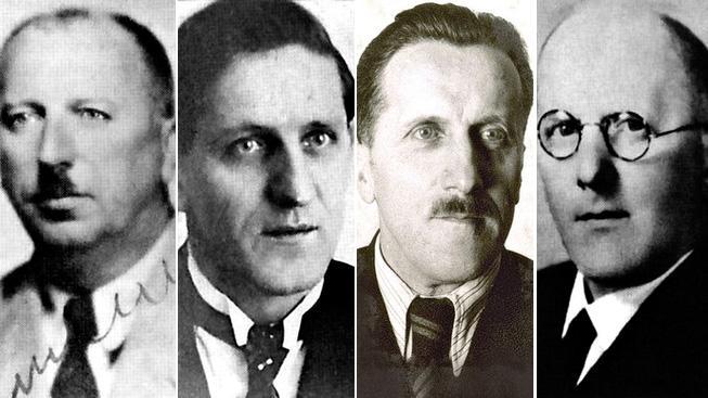 Bratři Linhartové, zleva Bedřich, Václav, Otto a Zdeněk