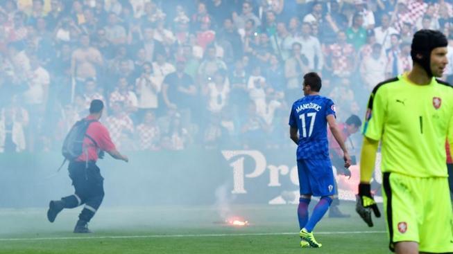 Mario Mandžukič, Petr Čech, Česko - Chorvatsko, ME ve fotbale, St. Etienne