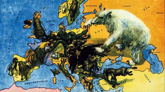 Dobová ilustrace z roku 1917