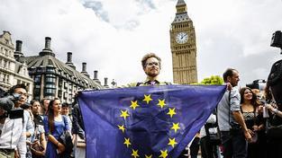 Protest proti brexitu v centru Londýna