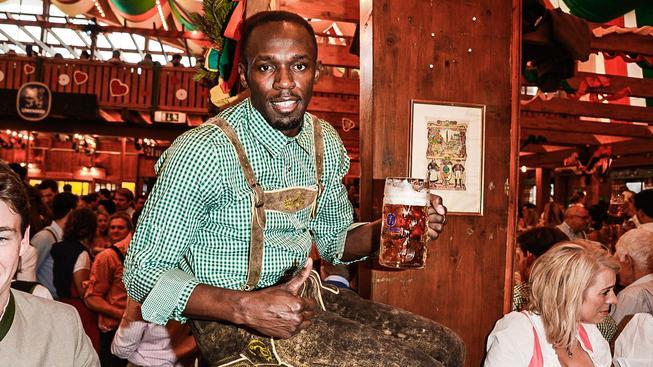 Usain Bolt má k Německu blízko, několikrát se zúčastnil i tradičního Oktoberfestu v Mnichově