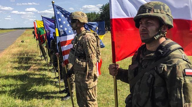 Společná cvičení NATO v Polsku, která se konala v červnu