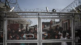 Brána uprchlického tábora Moria