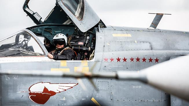Pilot v ruském letounu Suchoj Su-24