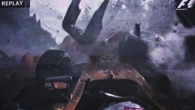 Takhle děsivě vypadala Magnussenova nehoda na obrazovkách