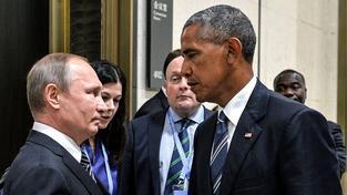 'Oční souboj' Putina a Obamy, ze kterého si pak internet tropil žerty