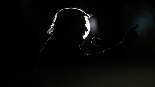 Trump na jednom z předvolebních shromáždění