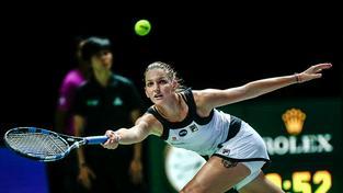 Karolína Plíškova podlehla ve svém druhém utkání na Turnaji mistryň ve třech setech