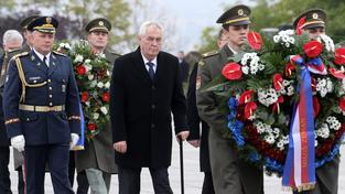 Prezident Miloš Zeman při loňské oslavě 28. října na Vítkově