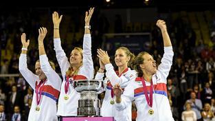 Češky ovládly Fed Cup potřetí za sebou
