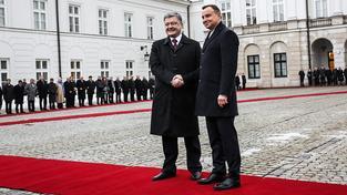 Porošenko s Dudou ve Varšavě