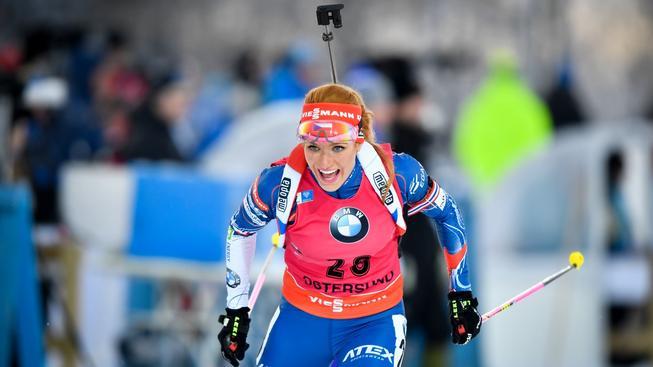 Gabriela Koukalová předvedla skvělou střelbu a ve Švédsku mohla slavit třetí místo